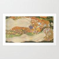klimt Art Prints featuring klimt by Ori Vishnia