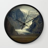 iceland Wall Clocks featuring Iceland Glacier  by Factory23