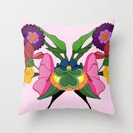 Rose-schach Throw Pillow