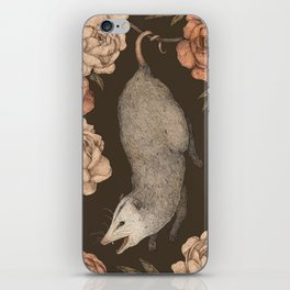 The Opossum and Peonies iPhone Skin