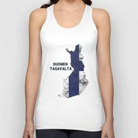 finland Tank Tops featuring Finland / Suomen Tasavalta by Dandy Octopus