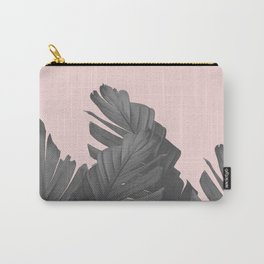 Blush Banana Leaves Dream #4 #tropical #decor #art #society6 Carry-All Pouch