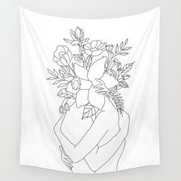 Blossom Hug Wall Tapestry