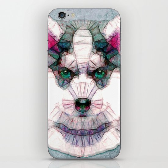 abstract husky puppy iPhone & iPod Skin