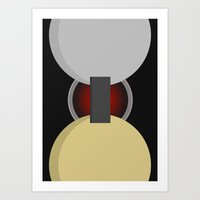 2001 a space odyssey Art Prints featuring 2001: A Space Odyssey by Curnee