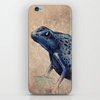frog iPhone & iPod Skins featuring Frog by Werk of Art