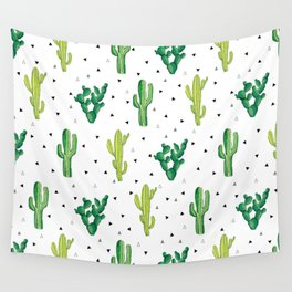 Cactus Print Wall Tapestry