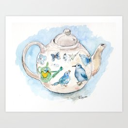 Tea in Wonderland Art Print