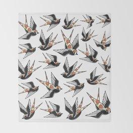 Rose Sparrows Throw Blanket