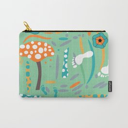 Playful mushroom and flowers Carry-All Pouch