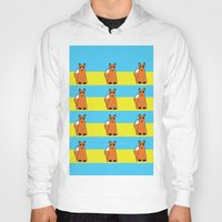 mr fox Hoodies featuring Mr Fox by RoyaleWithCheese