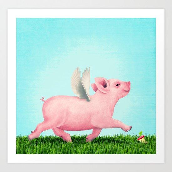 Pigasus Art Print