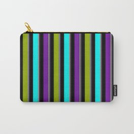 VERTICAL Retro Candy Stripe Carry-All Pouch