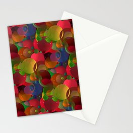abstract bubbles -1- Stationery Cards