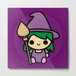 Cute spooky witch Metal Print