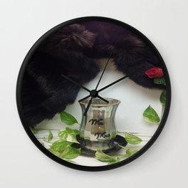 Mink: Wedding/Anniversary (w/rose) Wall Clock