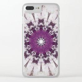 Shabby Chic Rose Blush Mandala Clear iPhone Case