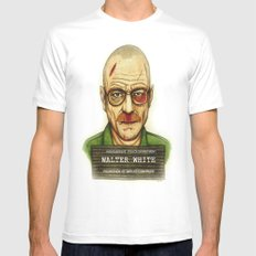 Breaking Bad. Mens Fitted Tee MEDIUM White