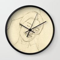 valentina Wall Clocks featuring Valentina by HermanasOso