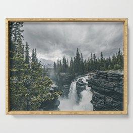 Landscape Athabasca Falls Christmas Serving Tray