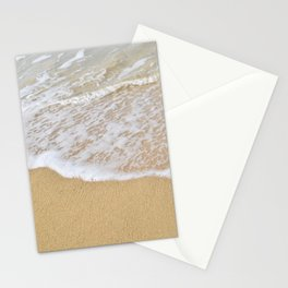 Beautiful wave surfing on a sandy beach Stationery Cards