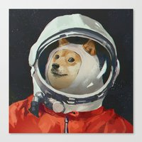 doge Canvas Prints featuring DOGE by Ilya Brovkin