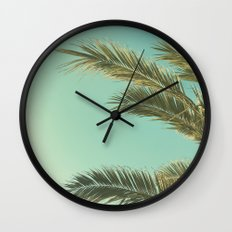 Autumn Palms II Wall Clock