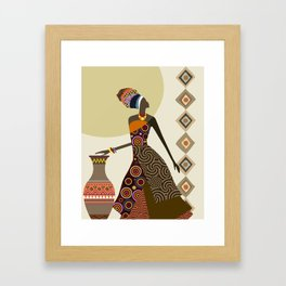 Afrocentric Chic VI Framed Art Print