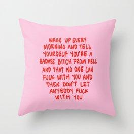 Girl Boss Motto Throw Pillow