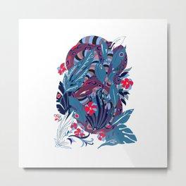 Plum Jungle Metal Print