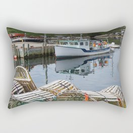 Fishing Boat in Peggy's Cove, Nova Scotia Rectangular Pillow