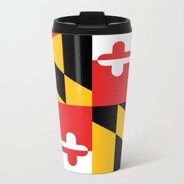 Maryland State Flag Art Print Metal Travel Mug