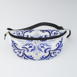 Azulejo V - Portuguese hand painted tiles Fanny Pack