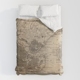 Vintage Map of Constantinople (1859) Comforters