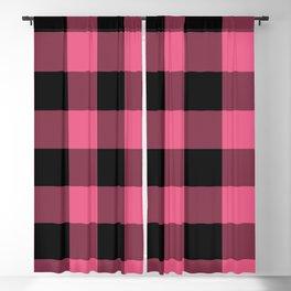 Pink & Black Buffalo Plaid Blackout Curtain