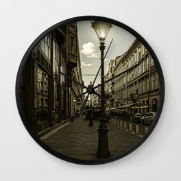 Budapest Night Lights Wall Clock