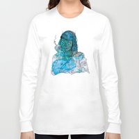 mia wallace Long Sleeve T-shirts featuring Mia  by Albert F. Montoya
