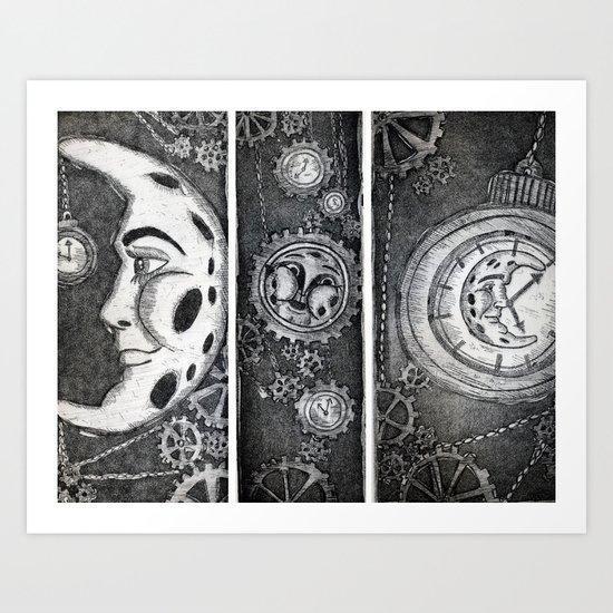 Living the Moontime Art Print