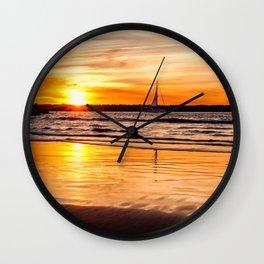 Marina Del Rey Sunset at the Jetty Wall Clock