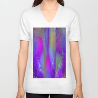 industrial V-neck T-shirts featuring Industrial Wings by Jennifer Warmuth Art And Design