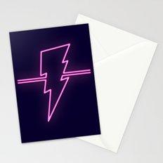 Rad Pink Neon Lightning Stationery Cards
