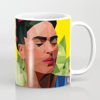 frida Mugs featuring Frida by Jesus Servin