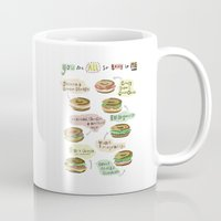 biology Mugs featuring Bagel Biology by Faye Finney