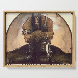 """Old Mountain Troll"" John Bauer Watercolor Serving Tray"