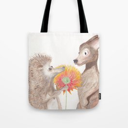 Hedgehog & Chihuahua Drawing Tote Bag