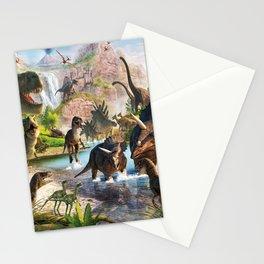 Jurassic dinosaur Stationery Cards