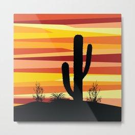 Geometric desert sunset Metal Print