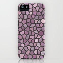 Mauve Pink Mosaic Pattern - darker iPhone Case