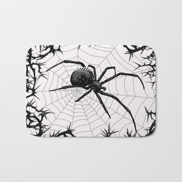 Briar Web- Black and White Bath Mat