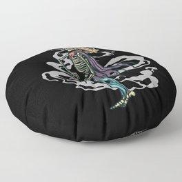 Funny Skeleton Cowboy Floor Pillow